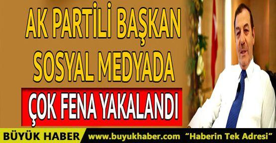 AK Partili başkandan ilginç tweet! Fena yakalandı