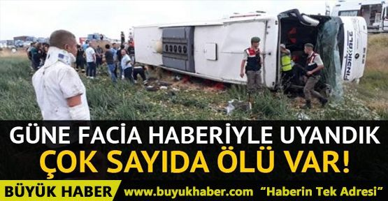 Amasya'da yolcu otobüsü devrildi: Ölüler ve yaralılar var