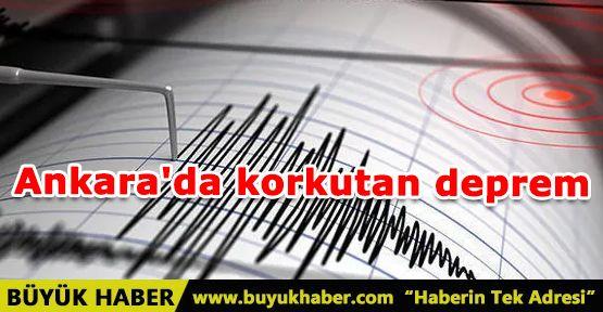 Ankara'da korkutan deprem