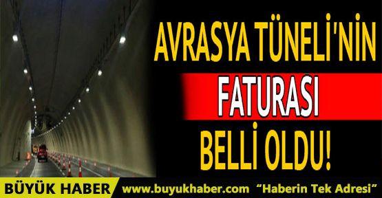 Avrasya Tüneli'nin 2017 faturası: 123 milyon lira