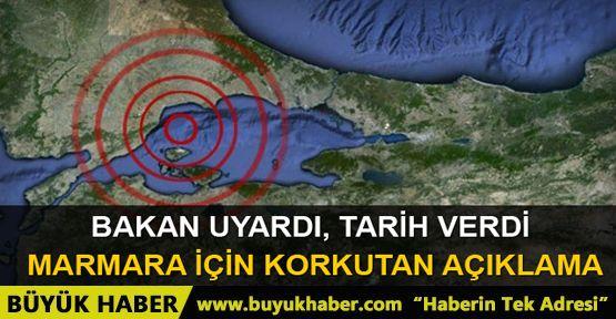 Bakan uyardı! Marmara için tarih verdi