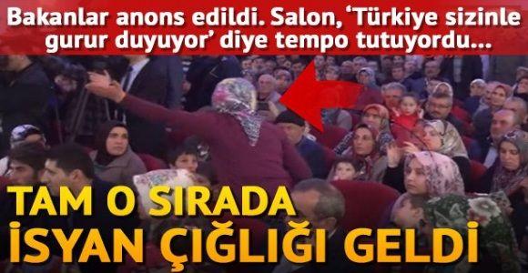 Bakanlar, Ermenek'te tapu dağıtımı töreninde protesto edildi