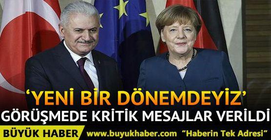 Başbakan Yıldırım, Merkel ile görüştü