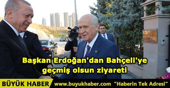 Başkan Erdoğan'dan Bahçeli'ye geçmiş olsun ziyareti