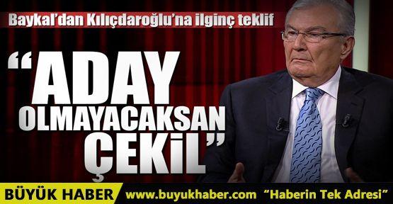 Baykal'dan Kılıçdaroğlu'na ilginç teklif