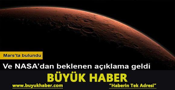 Beklenen 'Mars' açıklaması geldi