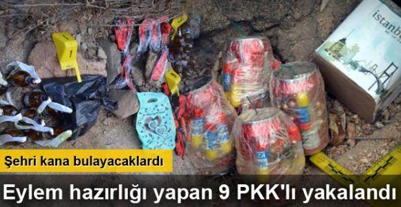 Bingöl'de eylem hazırlığı yapan 9 PKK'lı yakalandı