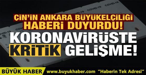 Çin'in Ankara Büyükelçiliği duyurdu!