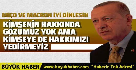Cumhurbaşkan Erdoğan'dan Akdeniz ve Lübnan mesajı