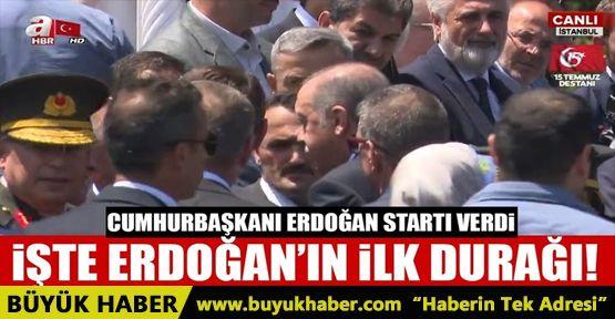Cumhurbaşkanı Erdoğan, 15 Temmuz şehitliğine gitti