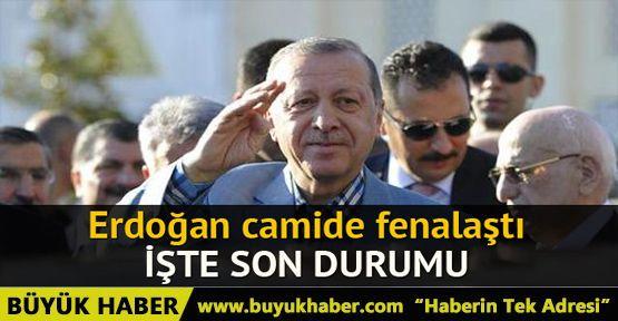 Cumhurbaşkanı Erdoğan camide kısa süreli rahatsızlık geçirdi