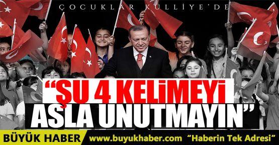 Cumhurbaşkanı Erdoğan çocuklara hitap etti