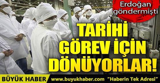Cumhurbaşkanı Erdoğan göndermişti! Tarihi görev için dönüyorlar