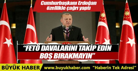 Cumhurbaşkanı Erdoğan'dan STK'lara: FETÖ davalarını takip edin