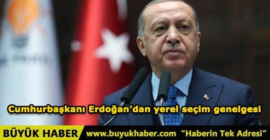 Cumhurbaşkanı Erdoğan'dan yerel seçim genelgesi