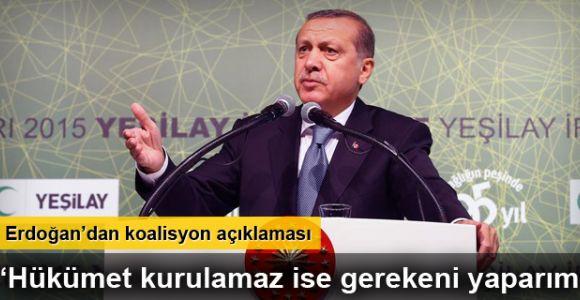 Cumhurbaşkanı Recep Tayyip Erdoğan'dan koalisyon mesajı