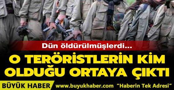 Dün öldürülen teröristlerin kim oldukları ortaya çıktı!