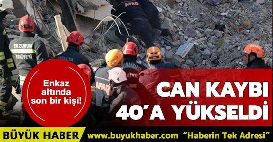Elazığ'daki depremde hayatını kaybedenlerin sayısı 40'a yükseldi
