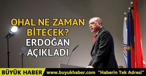 Erdoğan'dan kritik açıklama! OHAL ne zaman bitecek?