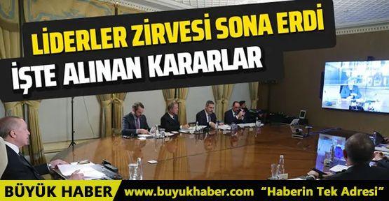 Erdoğan'ın da katıldığı dörtlü zirve sona erdi!
