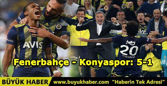 Fenerbahçe - Konyaspor: 5-1