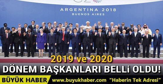 G20'nin 2019 ve 2020 dönem başkanları belli oldu