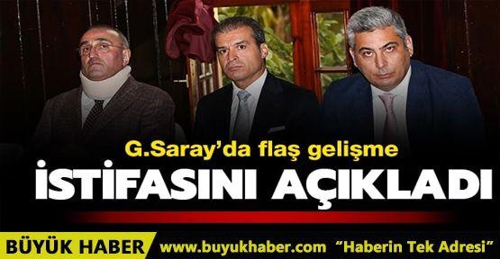 Galatasaray yönetiminden Özgür Savaş Özüdoğru istifa ettiğini açıkladı
