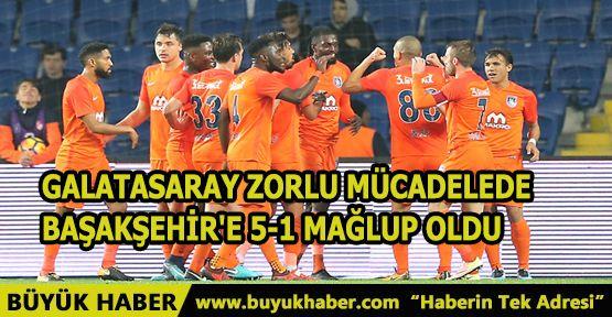 Galatasaray Zorlu Mücadelede Başakşehir'e 5-1 Mağlup Oldu