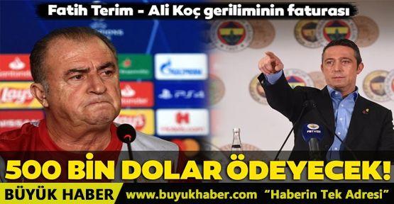 Galatasaray'dan Ali Koç'a 500 bin dolar!