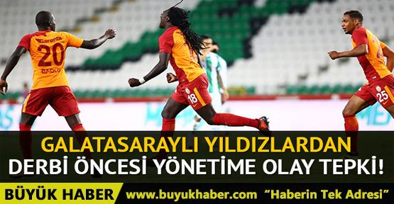 Galatasaraylı futbolcular Fenerbahçe derbisi öncesi prim istemedi