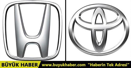 Honda ve Toyota 1,3 milyon aracını geri çağırdı