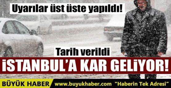 İstanbul hava durumu uyarısı! Kar yağışı geliyor