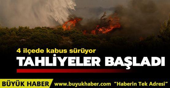 İzmir ve Muğla'da yangın kabusu sürüyor! Tahliyeler başladı