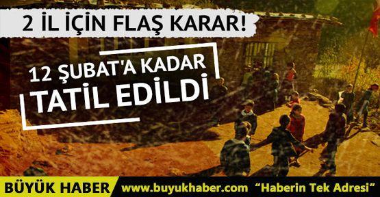 Kilis ve Hatay'ın sınır ilçelerinde okullar tatil edildi