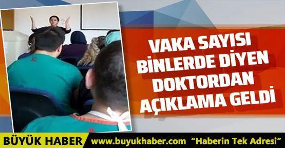 Korona vaka sayısı binlere ulaştı diyen doktor Güle Çınar açıklama yaptı