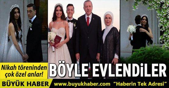 Mesut Özil - Amine Gülşe nikah töreninden fotoğraflar