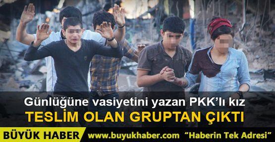 Nusaybin'de günlüğüne vasiyetini yazan PKK'lı teslim oldu