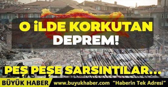 O ilde korkutan deprem! Peş peşe 2 sarsıntı! Kandilli Rasathanesi ve AFAD son depremler listesi...
