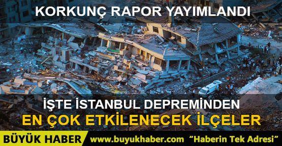Olası İstanbul depreminde en çok etkilenecek ilçeler