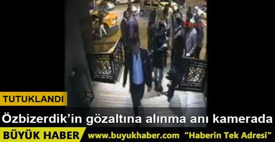 Onur Özbizerdik'in gözaltına alınma anı kamerada