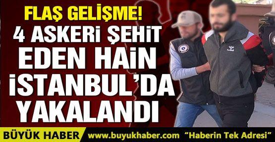 Patlayıcı ile 4 askeri şehit eden PKK'lı terörist tutuklandı
