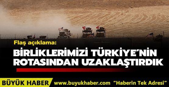 Pentagon: Birliklerimizi Türk askeri harekatının rotasından uzaklaştırdık