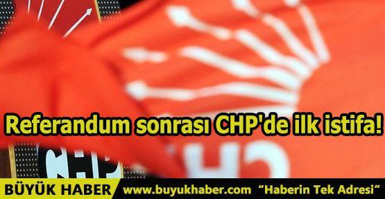 Referandum sonrası CHP'de ilk istifa!