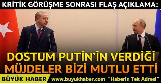 Rusya'da kritik zirve! Putin ve Erdoğan'dan ortak açıklama