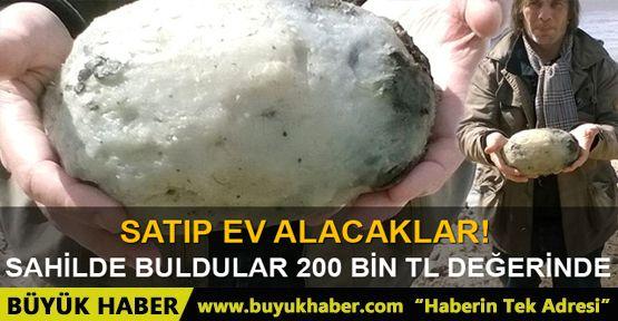 Sahilde balina kusmuğu buldular! Değeri 200 bin TL