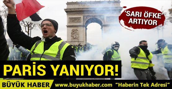 'Sarı öfke' artıyor, Paris yanıyor