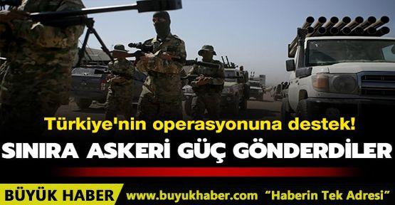 Suriye Milli Ordusundan Fırat'ın doğusuna yönelik operasyona destek