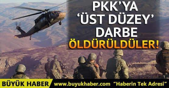 Terör örgütü PKK'ya 'üst düzey' darbe: Öldürüldüler