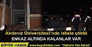 Akdeniz Üniversitesi'nde iskele işçilerin...