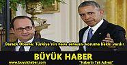 Barack Obama: Türkiye'nin hava sahasını...